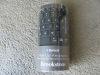 Brand Brookstone Bluetooth Wireless Roll-up Keyboard 682369 Black