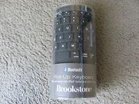 Brand Brookstone Bluetooth Wireless Roll-up Keyboard 682369 Black