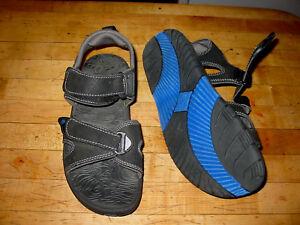 6505cc3dd271 NEW Mens Ocean Pacific Sz 7 Black Casual Sandals Ankle Strap Flip ...