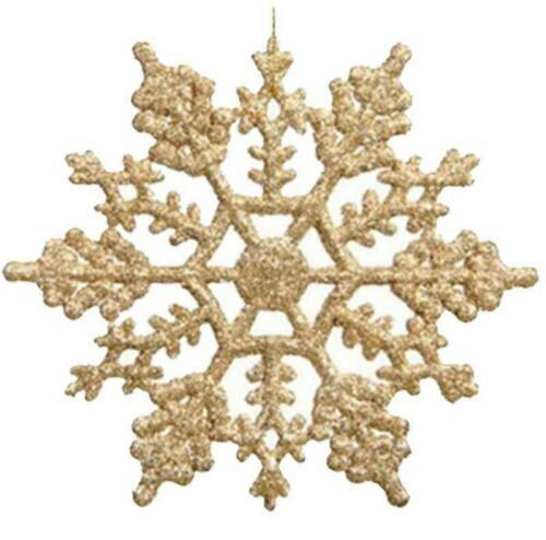 5x Glitter Christmas Snowflakes Xmas Tree Decorations Craft Party Home Ornament