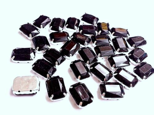 Acrylique Noir Coudre sur à Facettes Cristal Strass Diamantes Dress Making MONTEES