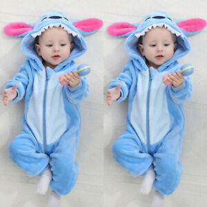 UK Newborn Baby Boys Camouflage Hooded Romper Jumpsuit Outfits Kids Tracksuit KR