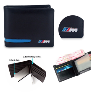 BMW-M-Sport-Leather-Wallet-Coin-Purse-Holder-Msport-Blue-Red-Mens-Accessory-New