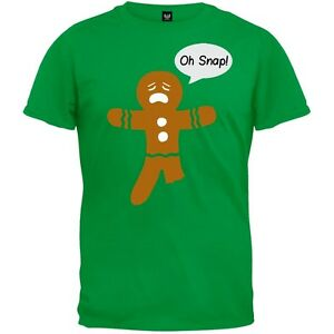 Oh snap gingerbread man adult mens t shirt for Snap t shirt printing