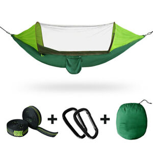 2 Person Tent Camping Hammock Bed Mosquito Net Rain Sun Cover Portable Windproof