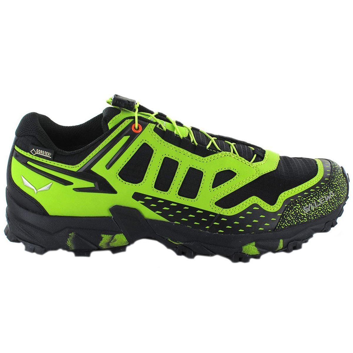 Salewa Ultra Train Gore-Tex Black Green Mens Hiking Shoes