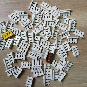 LEGO-PARTS-x30-qty-Fence-Pieces-Paled-Picket-Mix-Color-Mostly-White-Excellent