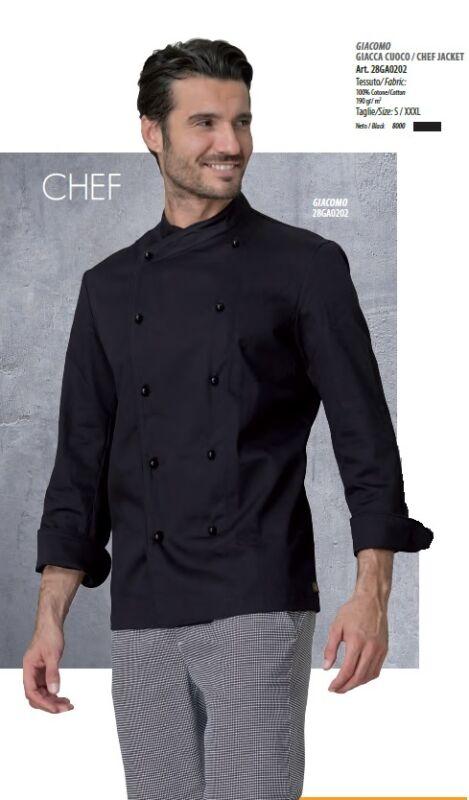 Chaqueta Cocinero Giacomo Siggi Horeca Made In Italy Chaqueta De Chef