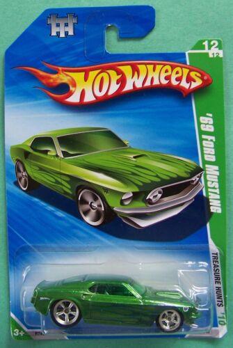 2010 Hot Wheels Treasure Hunt Reg /& Super '69 Ford Mustang #056 Choice Lot