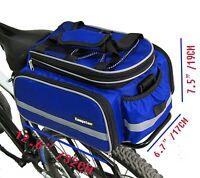 Bike Rack Top Bag Luggage Storage Bicycle Insulated Blue Waterproof Rear Trunk