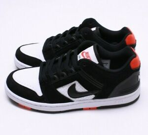 NIKE SB AIR FORCE II LOW BLACKWHITEHABANERO RED AO0300 006 MEN Sz 11