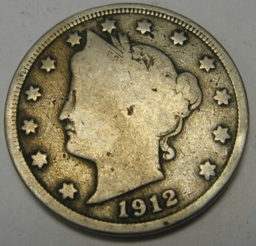 1912 Liberty V Nickel in the GOOD Range A Great Filler Coin DUTCH AUCTION