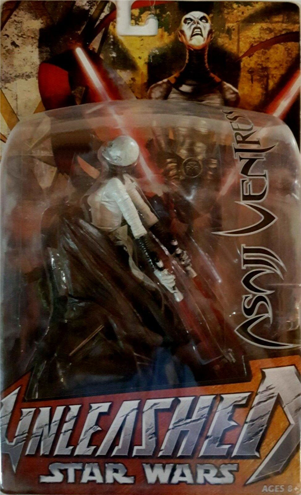 Star Wars ASAJJ VENTRESS Unleashed New  8 inch inch inch  (Year 2005) Factory Sealed e77198