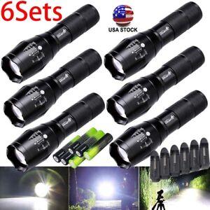 3/6x Tactical Flashlight Ultrafire 5 Modes High Powered Zoom Aluminum & Battery