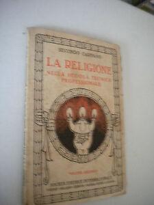 The Religione Nella Scuola Tecnica Professional - Secondo Carpano - 1931