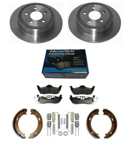 METALLIC PADS PARKING SHOES FOR JEEP COMMANDER 06-11 2 X REAR BRAKE DISC