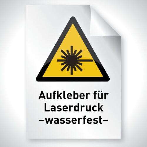 WEIß 10x Laserdruck Copy Aufkleber Wetterfest A3 297 420 Premium Profi Qualität