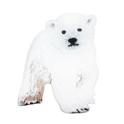 Baby Polar Bear Cub Patch Cute Zoo Animal Kids Craft Apparel Iron-On Applique