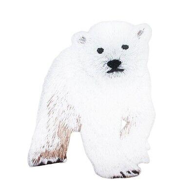 Baby Polar Bear Cub Patch Cute Zoo Animal Kids Craft Apparel Iron-On Applique