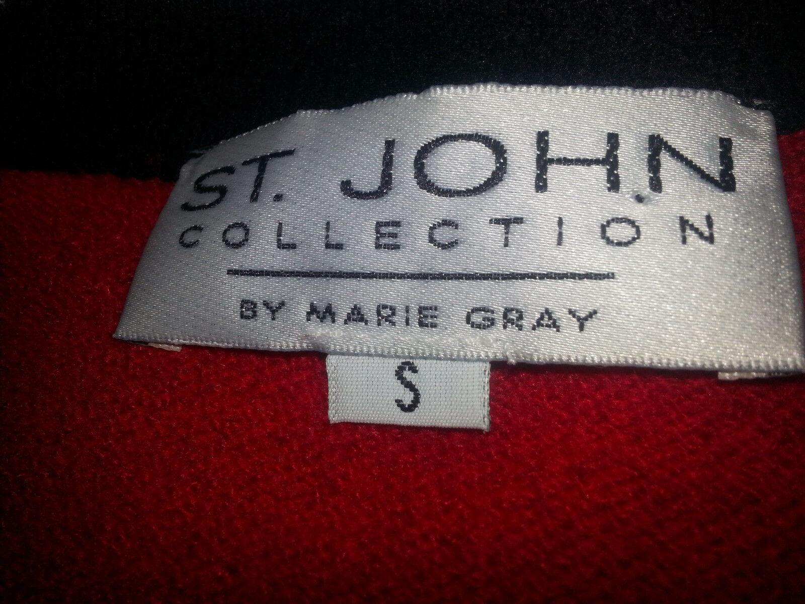 ST. ST. ST. JOHN Chaqueta Blazer para Mujer Frente Abierto Cárdigan Suéter Talla Pequeña Rojo f1e65f