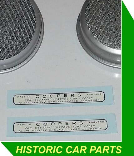 """AIR FILTERS /""""COOPERS/"""" LABEL for Austin Healey Sprite H1 1 1//8/"""" SU Carbs 1958-61"""
