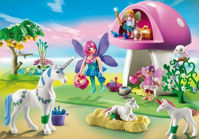 Playmobil Fairies Fairy Fairy Fairy Toadstool House Healing Fairies 6055 Released 2014 NIB 5a7efc