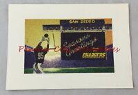 Unused Vintage San Diego Chargers Team Photo Seasons Greetings Card