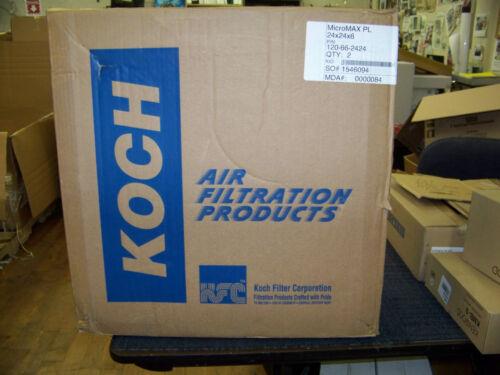 """Koch Air Filter MicroMax PL 24 X 24 X 6/"""" 2 ea # 120-66-2424"""