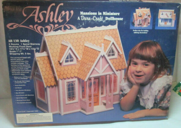 Dura Craft Dollhouse Kit Ashley AH 130 Mansions in Miniature Sealed w// Lighting