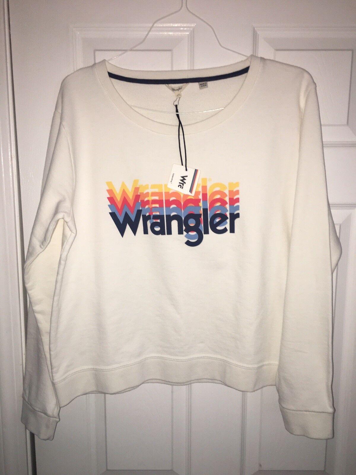 Wrangler Rainbow Logo Sweatshirt Cropped XXL