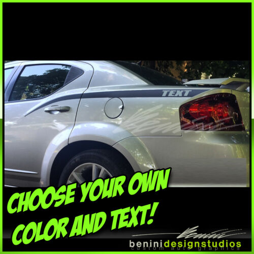 2008 2009 2010 2011 2012 2014 Dodge Avenger Side Spears Decal Graphics Stripes 1