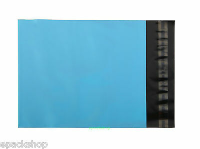 "20 Blue Poly Mailing Bags Plastic Envelopes Mailers 10"" x 12""_250 x 300+50mm"