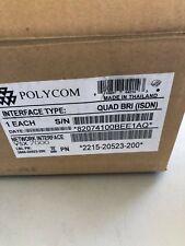 Polycom Network Interface Quad Bri Module For Vsx 7000 Pn 2215 20523 200