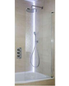 1 teilig badewannenfaltwand duschtrennwand duschabtrennung 140x70 glas mp75 ebay. Black Bedroom Furniture Sets. Home Design Ideas