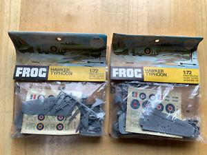 FROG HAWKER TYPHOON plastic model kit 2 set | eBay