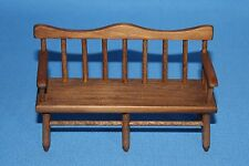 Vtg Doll House Miniature Wooden Hall JF Deacon Bench Furniture Seat Quality