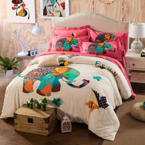Girls Butterfly 100/% Cotton Twin Single Queen Size Duvet Cover Set 3pc//4pc