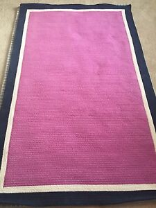 Pottery Barn Teen Capel Border Rug 5x8 Orchid Pink