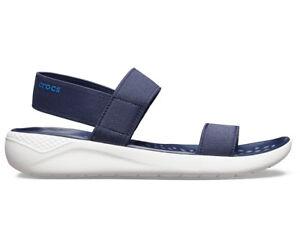 NEW-Genuine-Crocs-Women-LiteRide-Sandal-Navy-White-Australia-Store