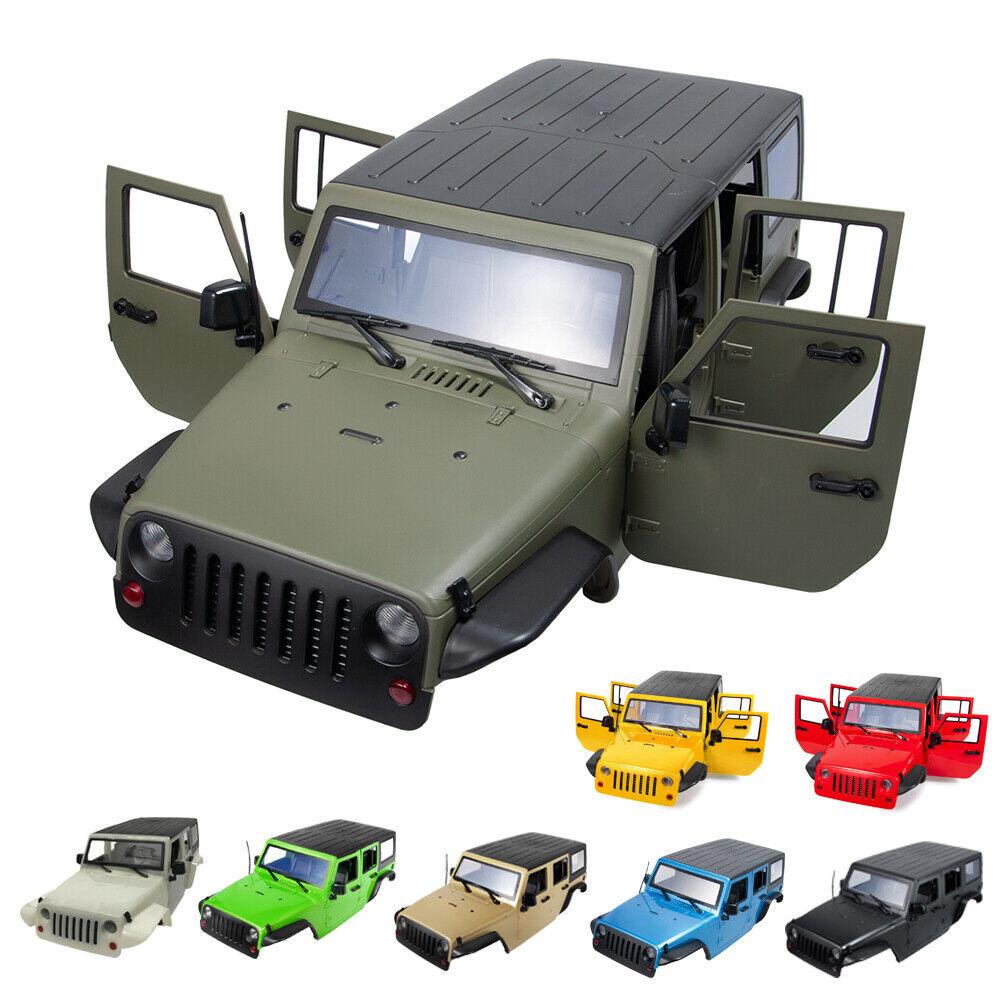 313mm wheelbase body shell para 1 10 RC Jeep Wrangler scx10 II 90046 90047 trx-4