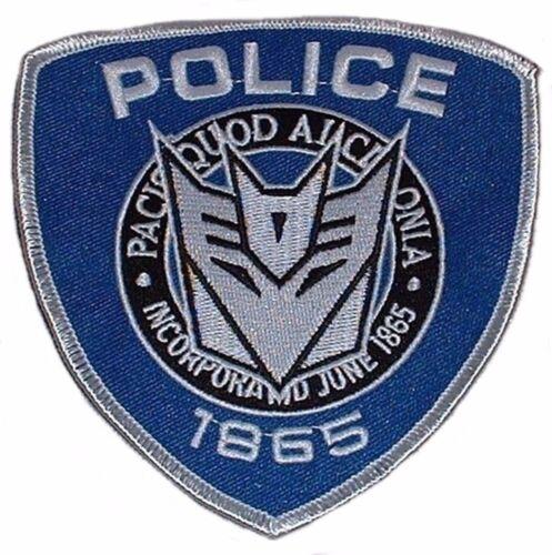 "Transformer Movie Barricade Ford Police Logo Premium Quality Patch 4.5/"""