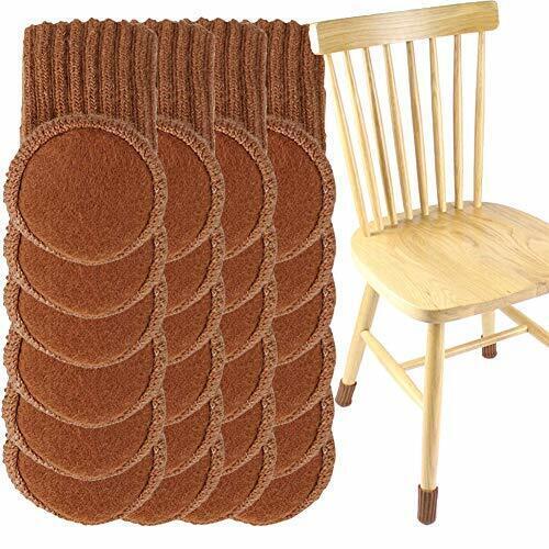 24pcs Knitting Wool Furniture Socks, Hardwood Floor Protectors For Furniture