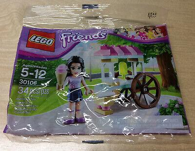 30106 EMMA/'S ICE CREAM STAND friends lego NEW poly bag legos set