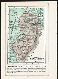 image is loading 1892 small antique old vintage paper us state