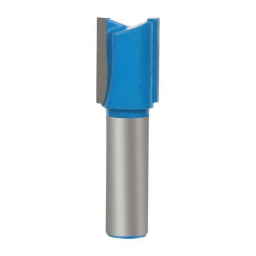 """Steel  Double Flute Straight Milling Cutter Router Bit 1//2/"""" 1//4/"""" Shank for Wood"""