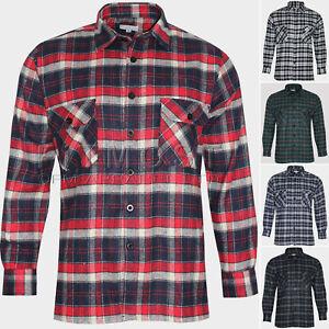 Para-Hombre-Franela-Lumberjack-de-Superdry-de-comprobacion-de-Algodon-Cepillado-Tartan-Camisas