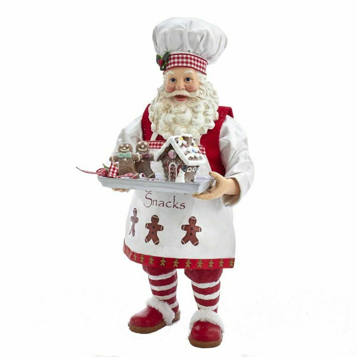 Kurt Adler 11  fabriché Pain D'épice Chef Santa Figurine