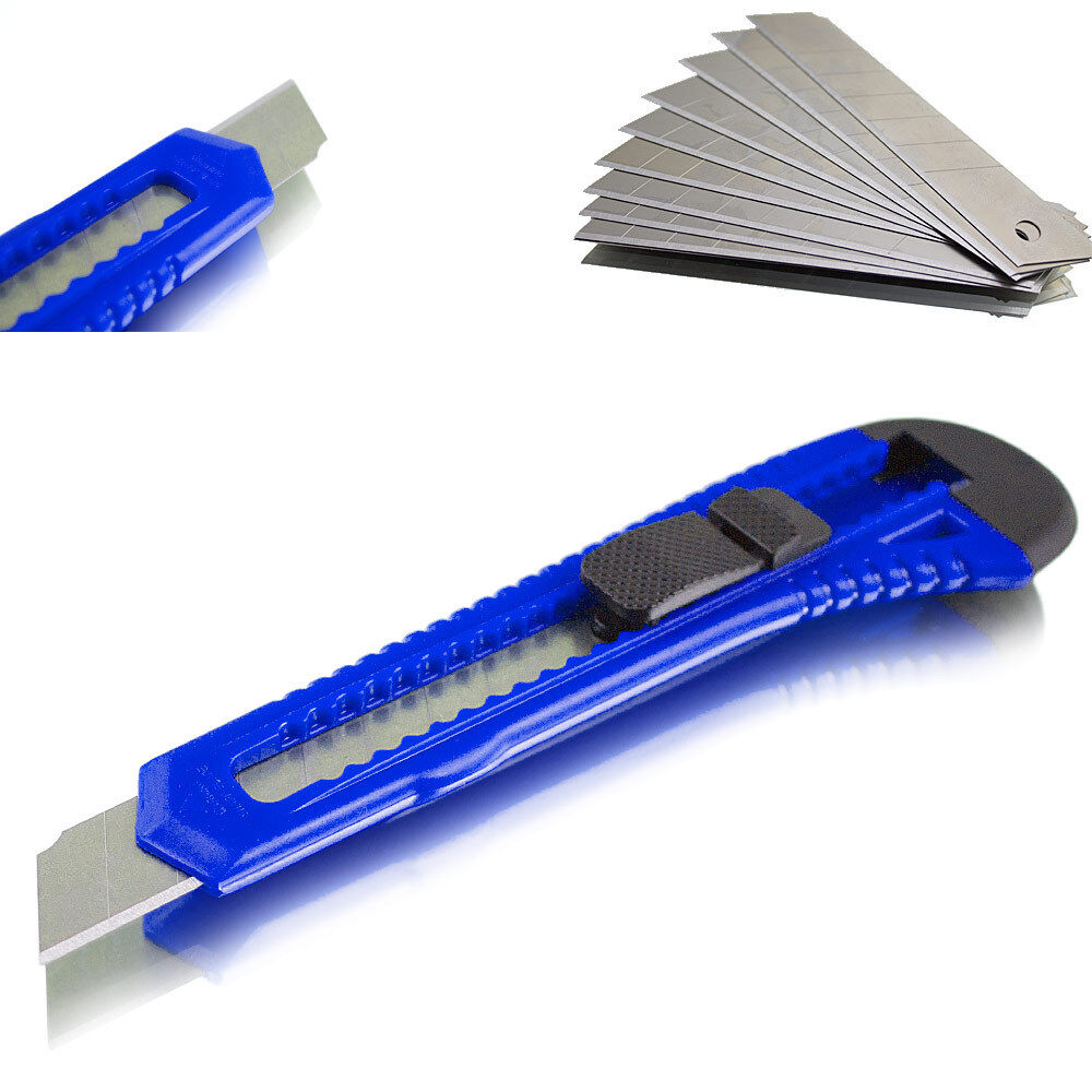 Cuttermesser Versandmesser Kutter Teppichmesser Blau Line mit Ersatz Klingen