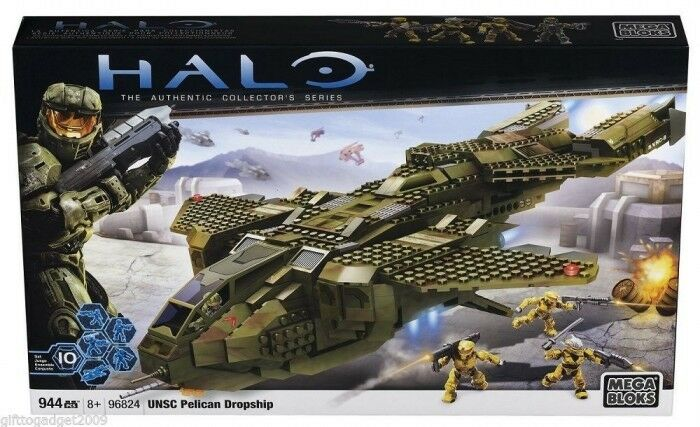 Mega Bloks Halo UNSC Pelican Dropship 96824 Rare Collectable New New New & Sealed 533c1c