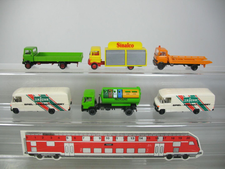 AJ413-0,5x Herpa Wiking etc H0 LKW LKW LKW Transporter Mercedes MB  Sinalco+Fuhr etc 75589b